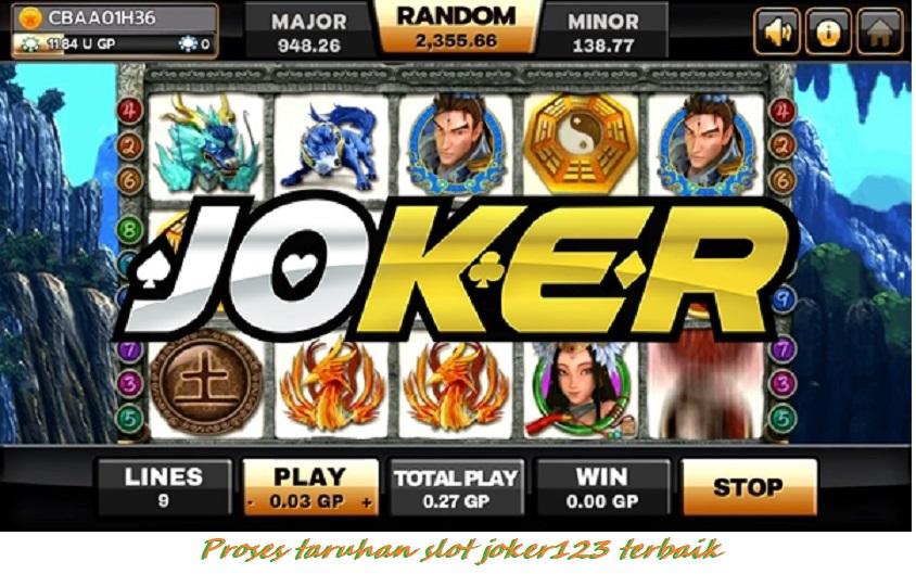 Proses taruhan slot joker123 terbaik
